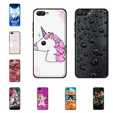 For Huawei Honor 10 Case Ultra-slim Soft TPU Leather Cover Cute Cartoon Patterned Coque