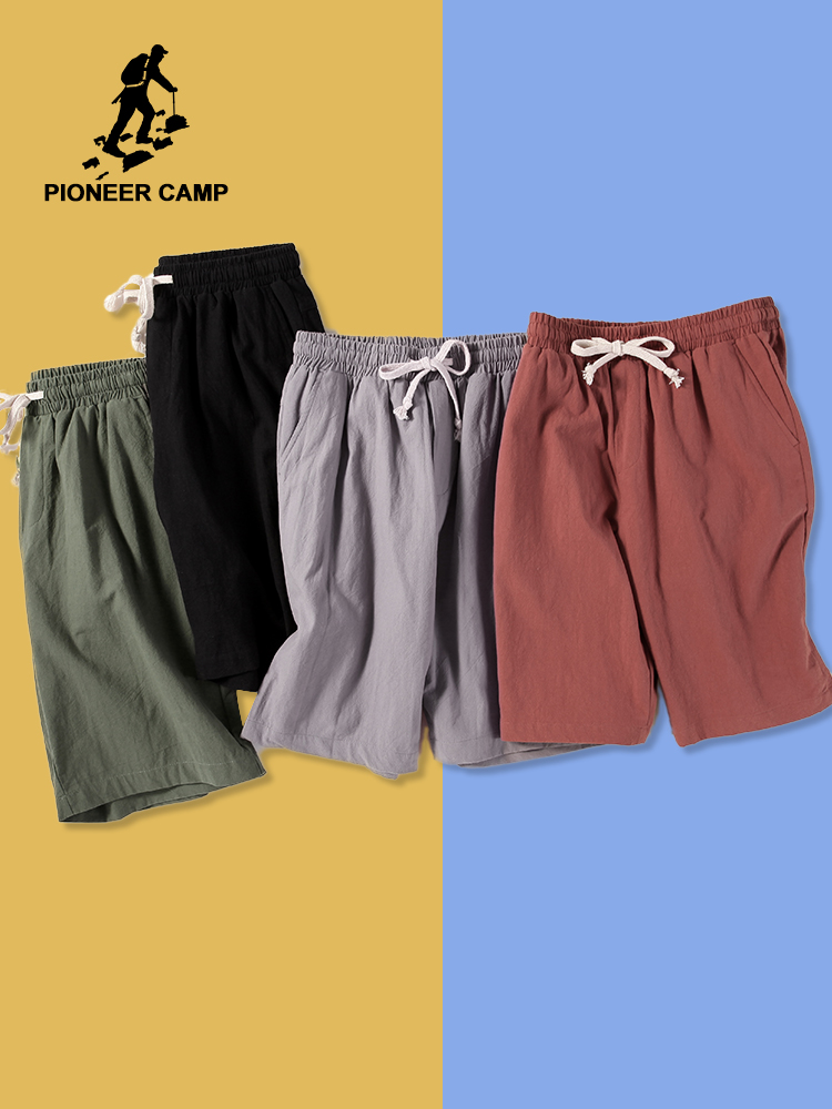 Pioneer Camp Dropshipping 2019 Mens Shorts High Quality Short Pants Male 100% Cotton Solid Jogger Men Casual Short ADK901184