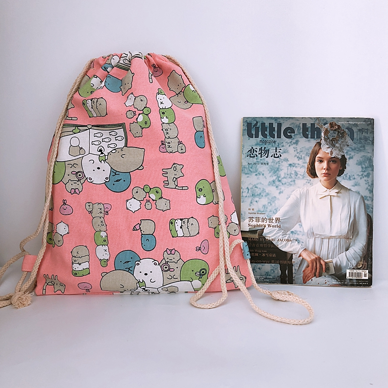Canvas Backpacks Bags String Animeknapsack Fashion Casual Cartoon New Unisex COOL Sumikko