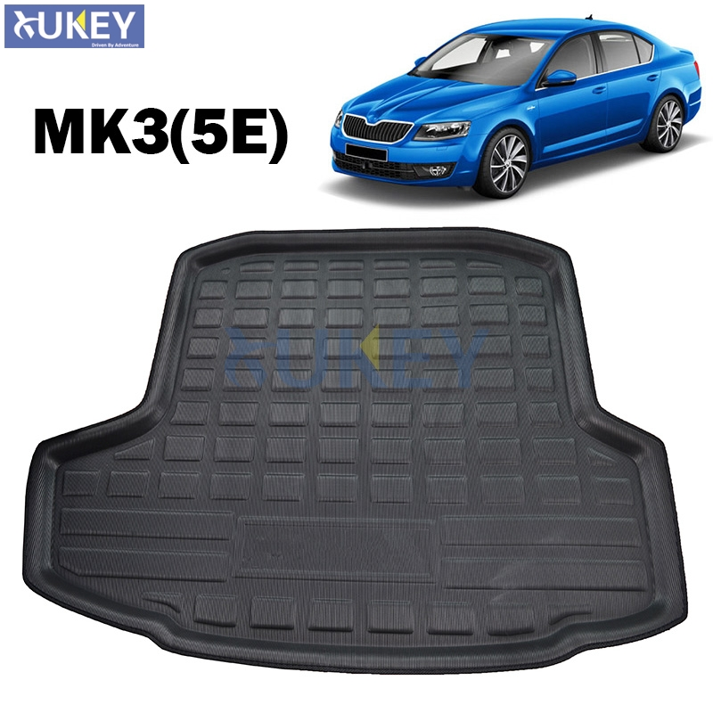 Car Rear Boot Liner Trunk Cargo Mat Tray Floor Carpet Mud Pad Protector For Skoda Octavia 2018 Car-styling 50% OFF Automobiles & Motorcycles