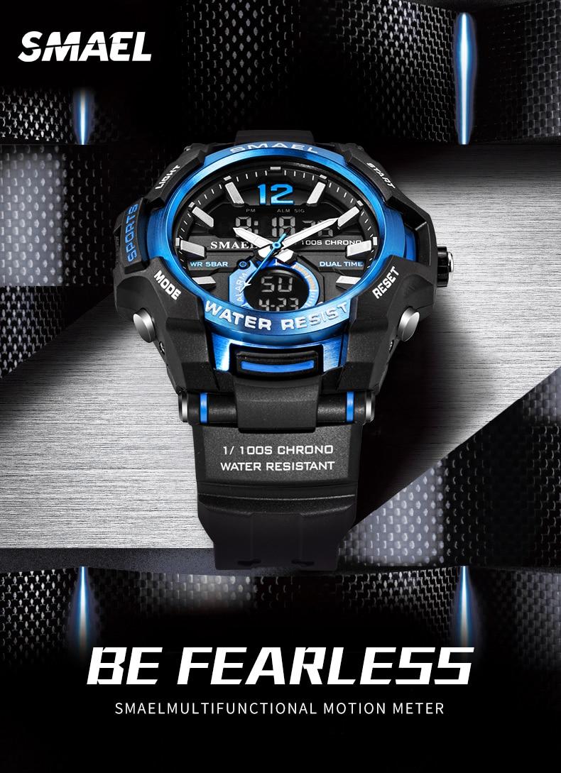 IsMyStore: SMAEL 2020 Men Watches Fashion Sport Super Cool Quartz LED Digital Watch 50M Waterproof Wristwatch Men's Clock Relogio Masculino