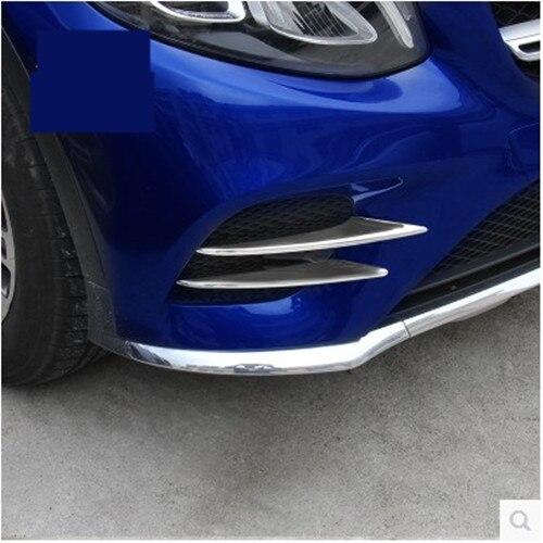 For Mercedes Benz GLC Class GLC260 GLC300 2017 Car-styling ABS Chrome Air intake grille Strips Trim Car Accessories 4Pcs 11pc x canbus no error led interior dome light lamp kit package for mercedes benz glc class x253 glc250 glc300 glc350 2015