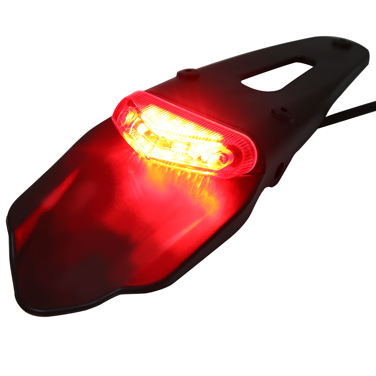 Image 3 - 1PC Motorcycle Off road Rear Fender LED Stop Tail Light For Enduro Trials Trailbikes XR400 For Yamaha WR250/ 450 TTR250 TT600 RE
