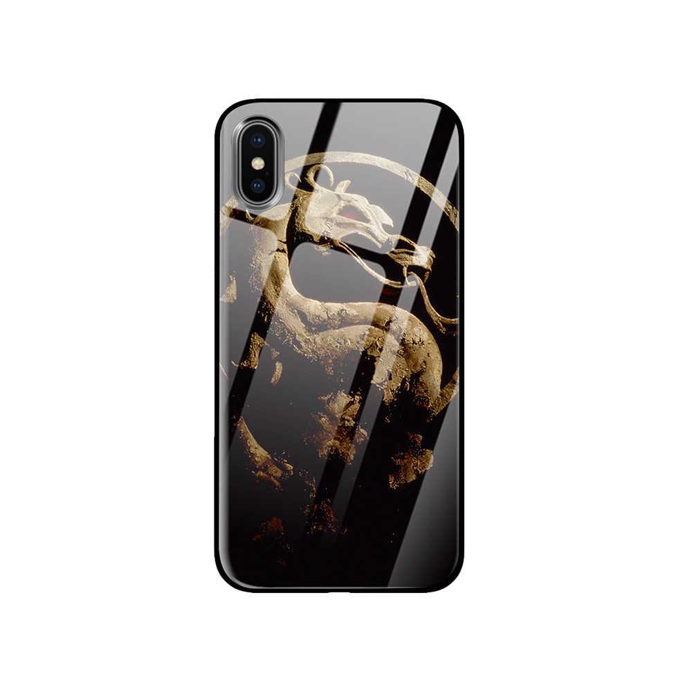 جراب هاتف من الزجاج المقسى لهاتف أبل آيفون 5 5s SE 6 6 S 7 8 Plus X XS Max XR