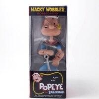 Marque d'origine Nouvelle Popeye le Sailorman Wacky Wobbler Bobble Head Pop Eye PVC Action Figure Collection Modèle Jouet Poupée 17 CM