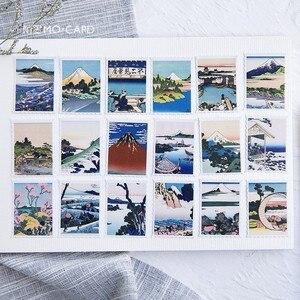 45pcs/box Japanese View Label Stickers Set Decorative Stationery Stickers Scrapbooking Diy Diary Album Stick Label