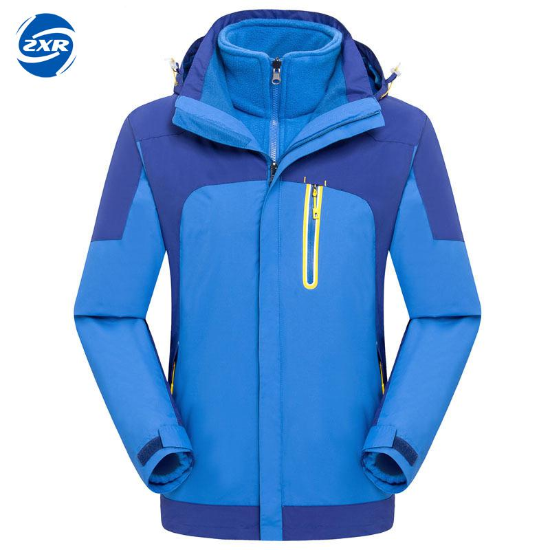Mountain Men Winter 2 pieces Softshell Fleece winter Jackets Outdoor Sports Waterproof Thermal Hiking Skiing Female Coats
