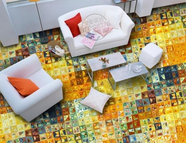 D photo wallpaper abstract texture d pavimenti in camera da