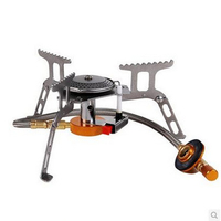 SPORTSHUB 228G 160x160x50MM High Strength Stainless Steel Portable Outdoor Camping Stove Gas Burner Picnic Cooker SES0017