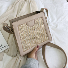 Female Crossbody Bags For Women 2019 Quality PU Leather Luxury Handbags Designer Sac A Main Ladies Straw Shoulder Messenger Bag