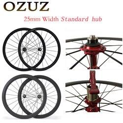 OZUZ Novatec A271SB/F372SB piasty standardowe koła 38 50mm czerwony węglowe koła 25 mm szerokości Clincher błyszczący matowy 3K 700c koło rowerowe w Koła roweru od Sport i rozrywka na