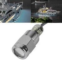 12V 24V 9W LED Marine Boat Yacht Drain Plug Light IP68 Waterproof Underwater Chrome plated Bronze Anti Corrosion Boat Lamp