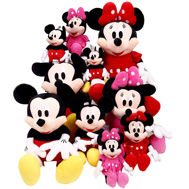 1pcs 28cm Minnie and Mickey Mouse low price Super Plush Doll Stuffed Animals Plush Toys For Children's Gift