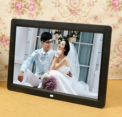 12 inch LED Display Multi-media Digital Photo Frame with Holder/Music/ Movie Player, Support USB / SD Card Input rshop new 8gb blue ultra slim mp4 mp3 player music 1 7 lcd screen mp4 music audio media player with earphone and usb cable support video movie ebook games photo view