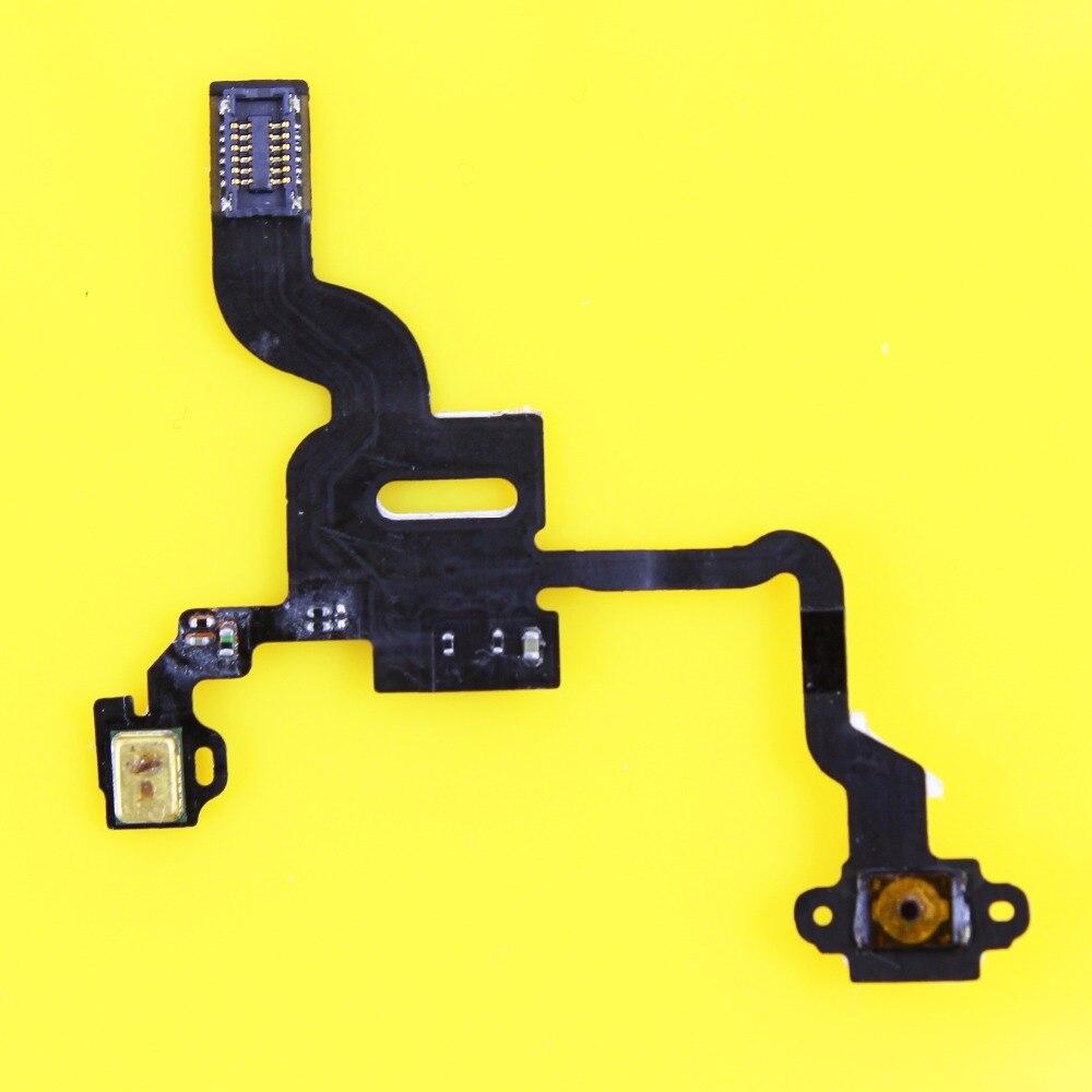 Jing Cheng Da 1pcs power sensor flex cable for iphone 4 4G light sensor proximity switch on off button flex cable
