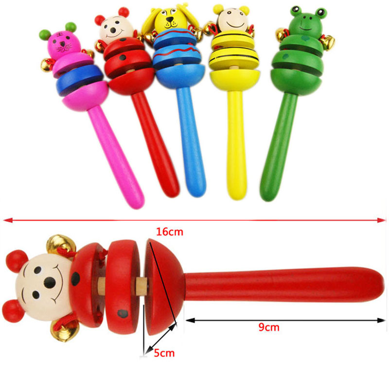 New Premiums Gifts Baby Rattle Learning Wooden Rattle Infant Baby Toys
