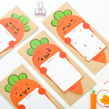 TIAMECH 6Pcs/Pack Envelope Letter Paper Set Cute Cartoon Carrot Stationery Student