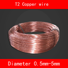 T2 copper wire diameter 0.5mm-5mm good electrical conductivity and Heat conduction Corrosion resistance m özisik heat conduction isbn 9781118332856