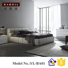 Japanese tatami design leather bed,Latest bedroom furniture designs(China)