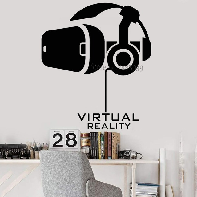vinyl game wall decals virtual reality computer technology stickers