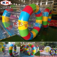 PVC 0.6 or 0.9mm inflatable water park games,Moible water roller for adults on sale