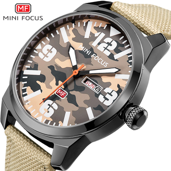 2019 Camouflage Army Military Watch Men Date Top Brand Luxury Sport Watches For Male Clock Relogio Masculino Whatches men Wach image