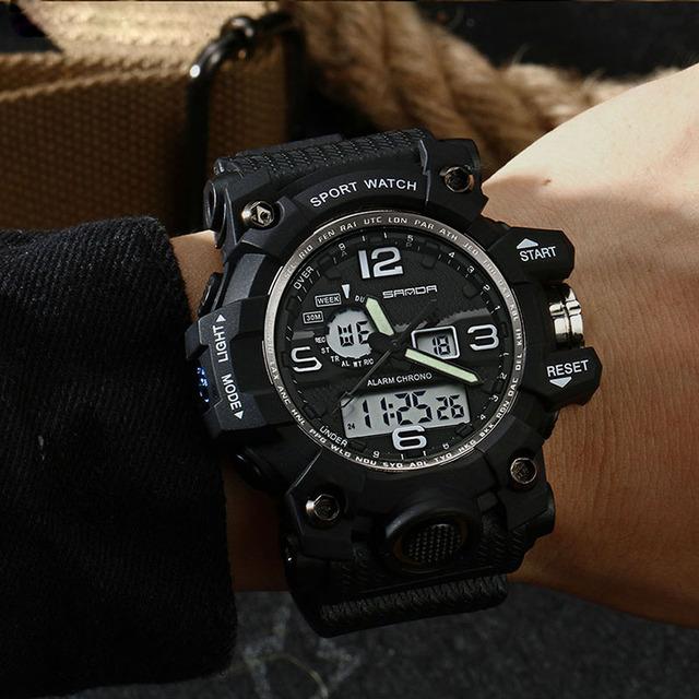 SANDA 742 Military Men's Watches Top Brand Luxury Waterproof