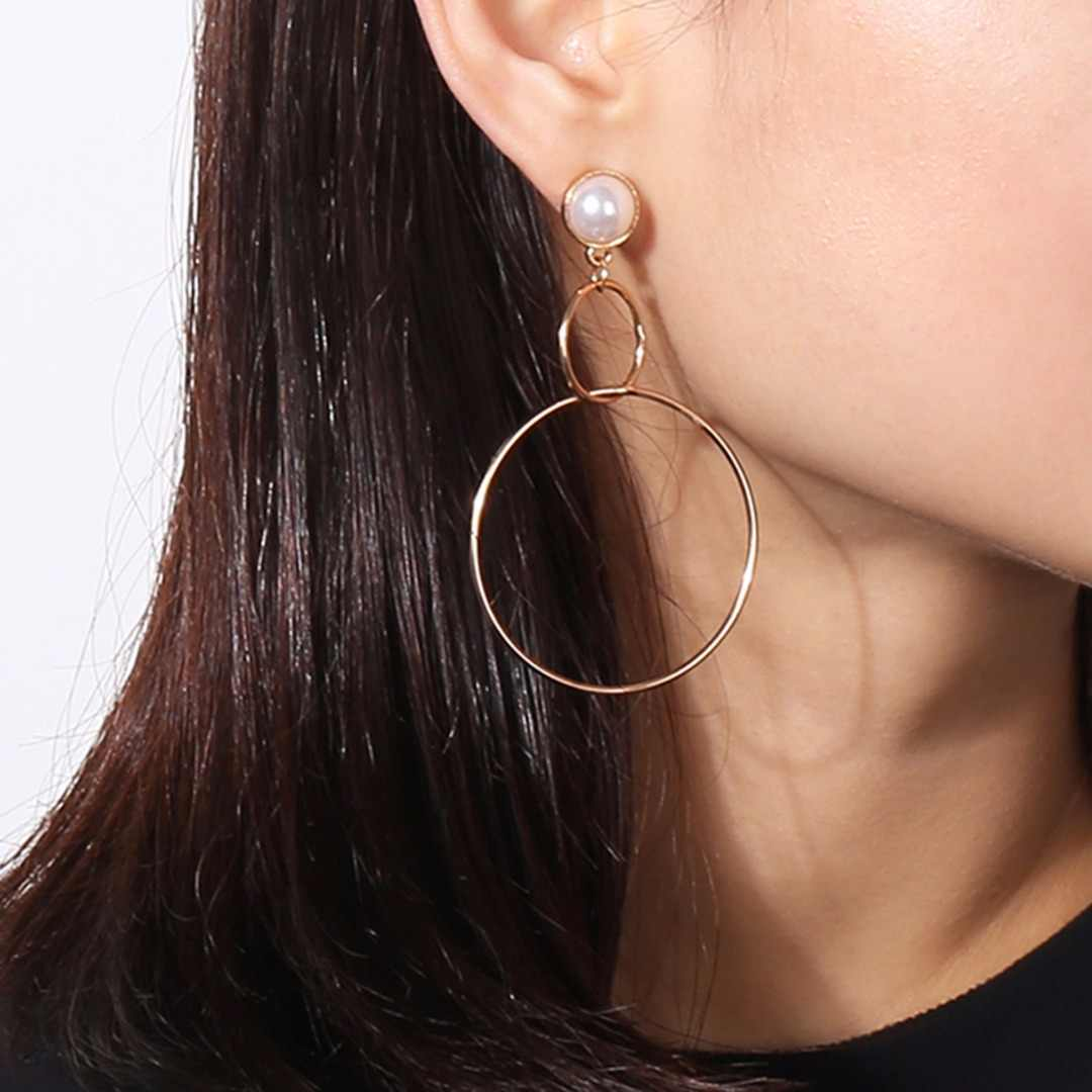 Charming Big Round Circle Earring Sexy Ladies Dangle Earring Femme boucle d'oreille Ear Jewelry For Women Bijoux Femme Shellhard