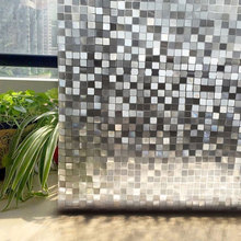 Mosaic window film on glass stickers 3D Privacy non-Adhesive Static Office Bathroom Home Decorative vinyl for glass door Film 3d square matt window glass film bathroom stickers static vinyl decals visual light explosion proof grilles paper 3 size