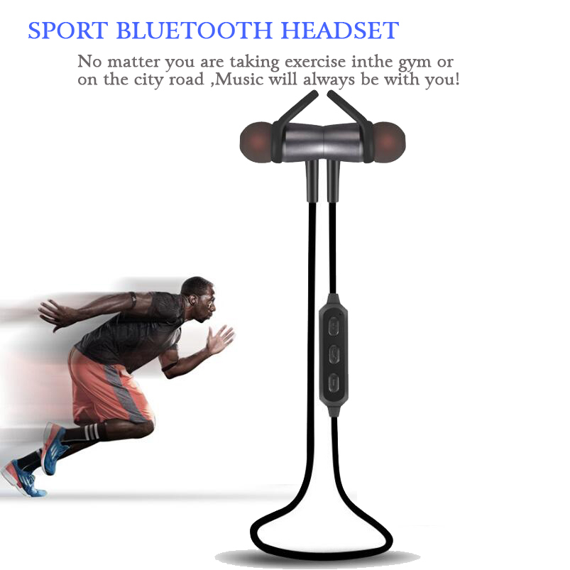 Sports Running Headphones Bluetooth Headset Wireless Earphone Headphone Bluetooth Earpiece with Mic Stereo Earbuds For all phone