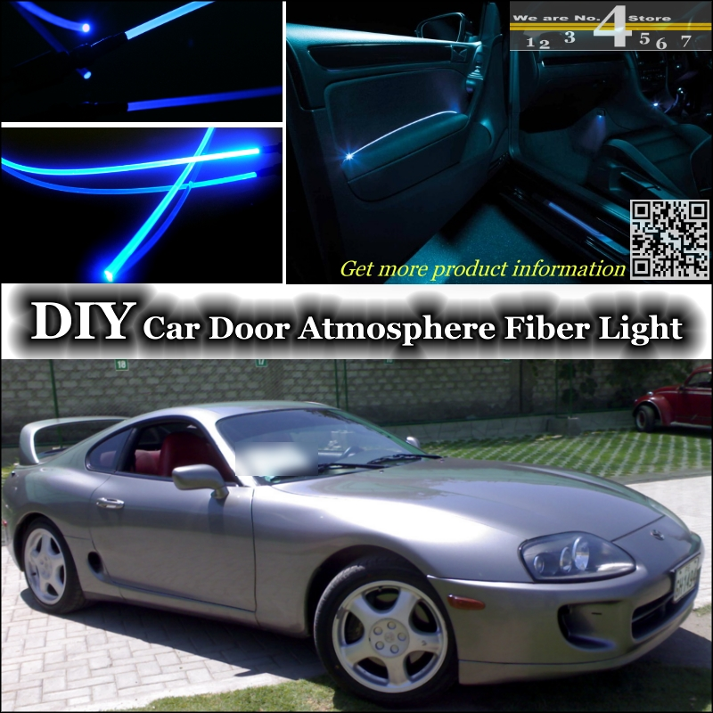 interior Ambient Light Tuning Atmosphere Fiber Optic Band Lights For TOYOTA Celica Supra A70 A80 Inside Door Panel illumination