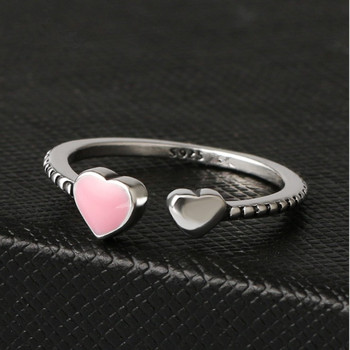 2019 Hot Sale Fashion jewelry 925 Silver Crystal from Austrian Simple wild small love opening ring Fit Women and female as gift