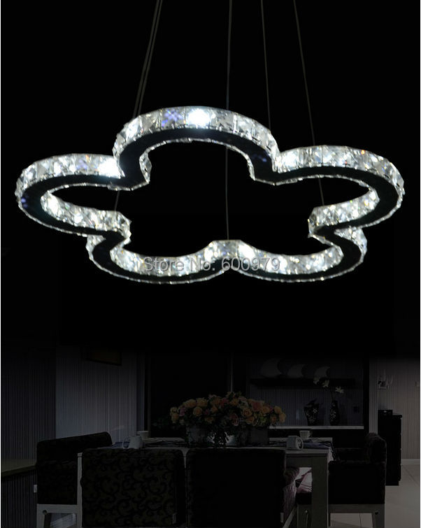 Free shipping dia 500mm Modern flower LED crystal chandelier,Dining room pendant lamp, Contemporary lighting fixture