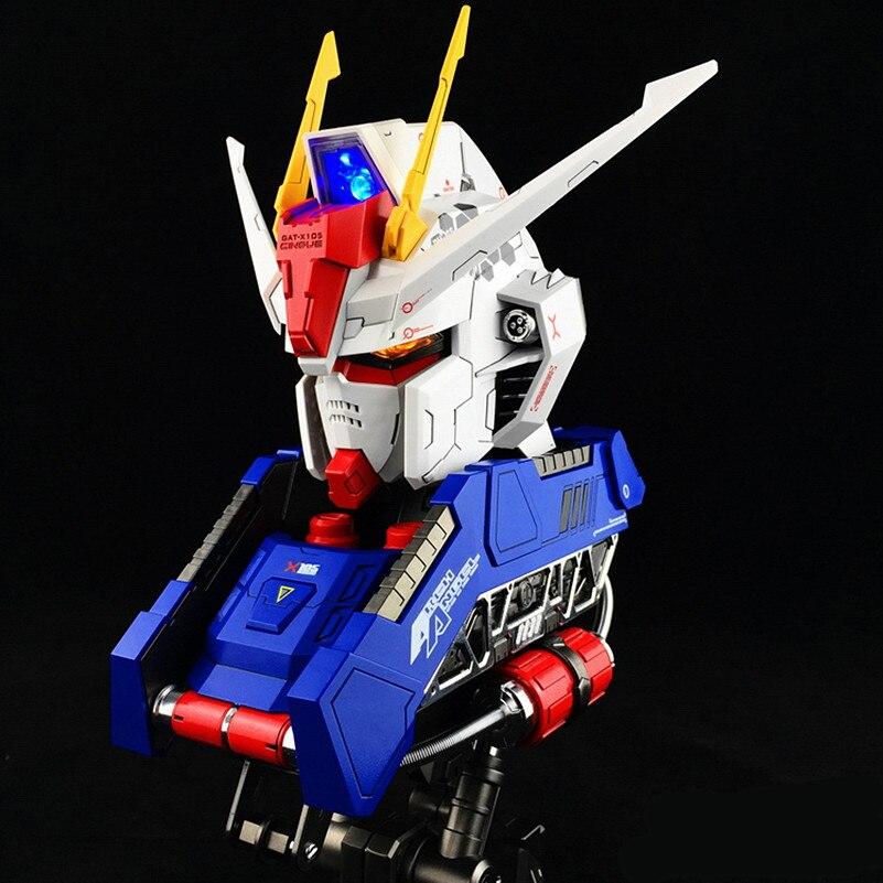 BTF model 1/24 GAT-X 105 Strike Gundam Large Head Bust Portrait with LED light action figure pokemon
