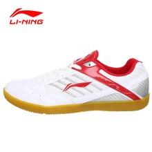 Анти-скользкие износостойкой подкладка li-ning спортивный теннис настольный крытый дышащий спортивная кроссовки