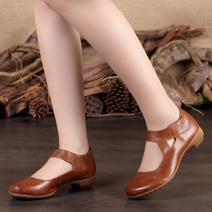 Careaymade Hot New style Genuine Leather pure handmade spring female shoes Japanese the retro art mori girl Casual shoes in Women 39 s Pumps from Shoes