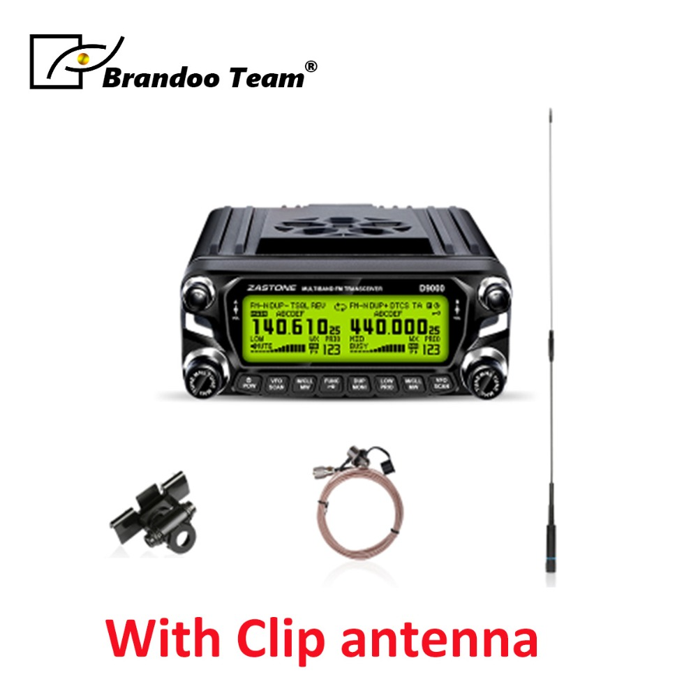 Free delivery,512 Channels mobile Radio 50W 136 174MHz 400 520MHz Car Walkie Talkie Mobile Radio with clip antenna