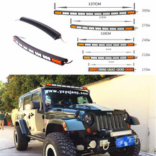 Car White Amber Curved LED Light Bar 22 27 32 38 42 48 54 Inch 120W 150W 180W to 300W For 4x4 4WD offroad 12V24V