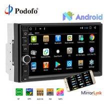 Podofo 2G RAM Android авто радио 4 ядра 7 «2 DIN Автомобильный мультимедийный плеер gps навигации стерео аудио Wi Fi Зеркало Ссылка