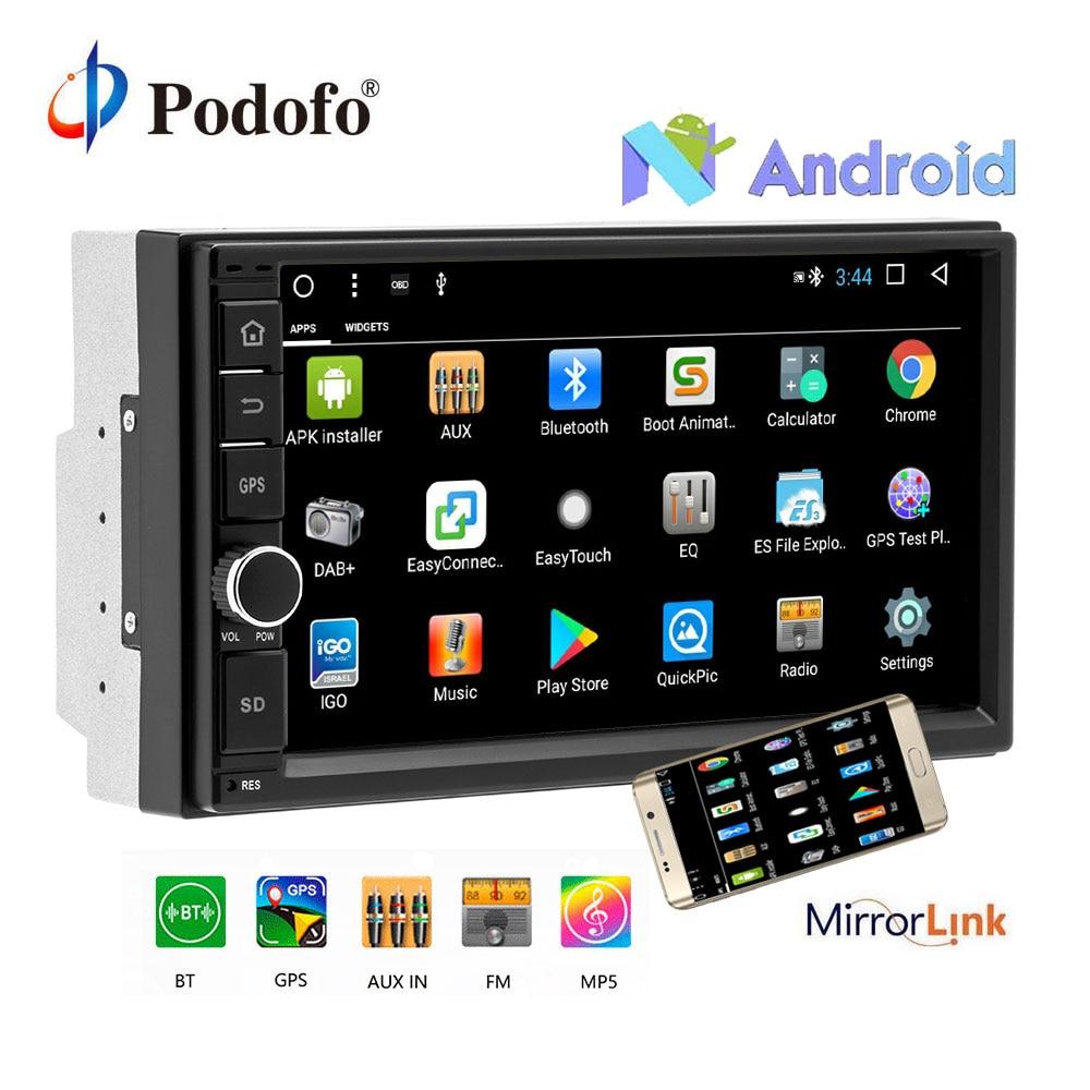 Podofo 2G RAM Android Auto Radio Quad Core 7