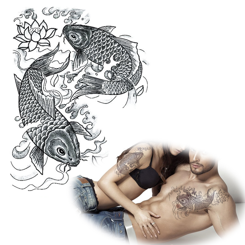 online kaufen gro handel koi karpfen tattoo designs aus china koi karpfen tattoo designs. Black Bedroom Furniture Sets. Home Design Ideas