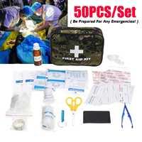 50 шт. аптечка для лекарств на открытом воздухе кемпинга SOS комплект жизнеобеспечения в чрезвычайных ситуациях для домашнего офиса