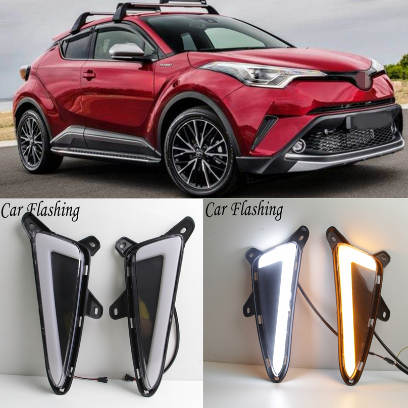 Car Flashing For Toyota Chr C Hr 2017 2018 Led Drl Daytime