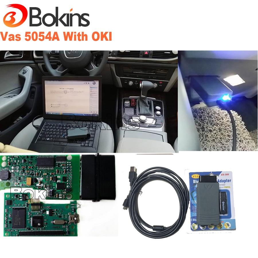imágenes para 2017 El Más Nuevo 5054A ODIS 3.0.3 VAS 5054A OKI Chip Completo Protocolo UDS VAS 5054 Soporta Bluetooth USB Herramienta de Diagnóstico Del Coche