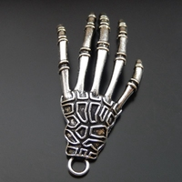 10PCS 43mm Antique Silver Daemonic Hand Alloy Charms Pendant Jewelry Making 39900