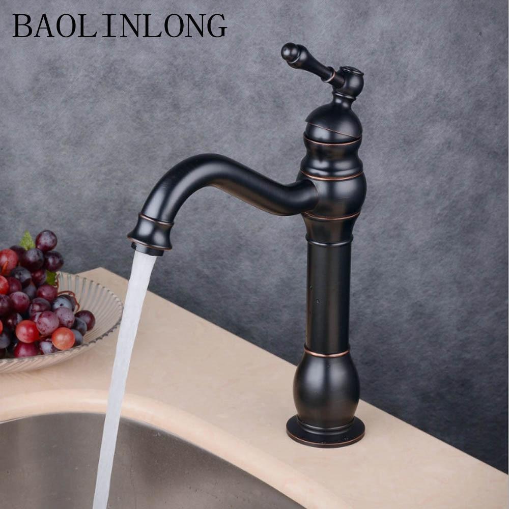 BAOLINLONG News Style Brass Basin Bathroom Faucets Tap Deck Mount Vanity Vessel Sinks Mixer FaucetBAOLINLONG News Style Brass Basin Bathroom Faucets Tap Deck Mount Vanity Vessel Sinks Mixer Faucet