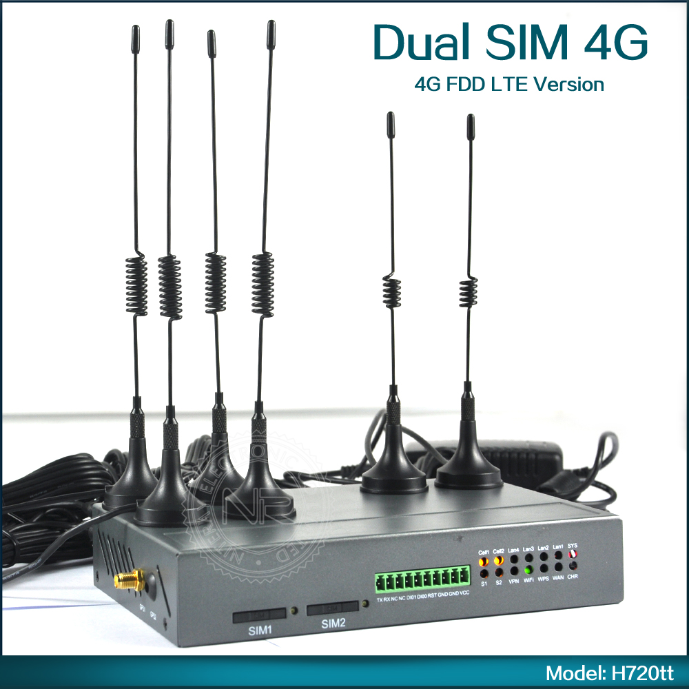 4G LTE Dual Sim Router For Asia/Europe/Africa/Oceania Support FDD LTE ( Model: H720tt )