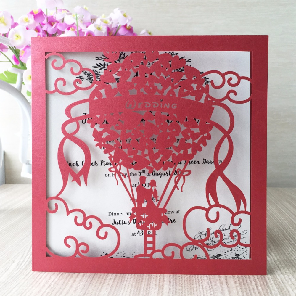 30pcs Glossy Paper Colors Wedding Invitations Card Place Birthday