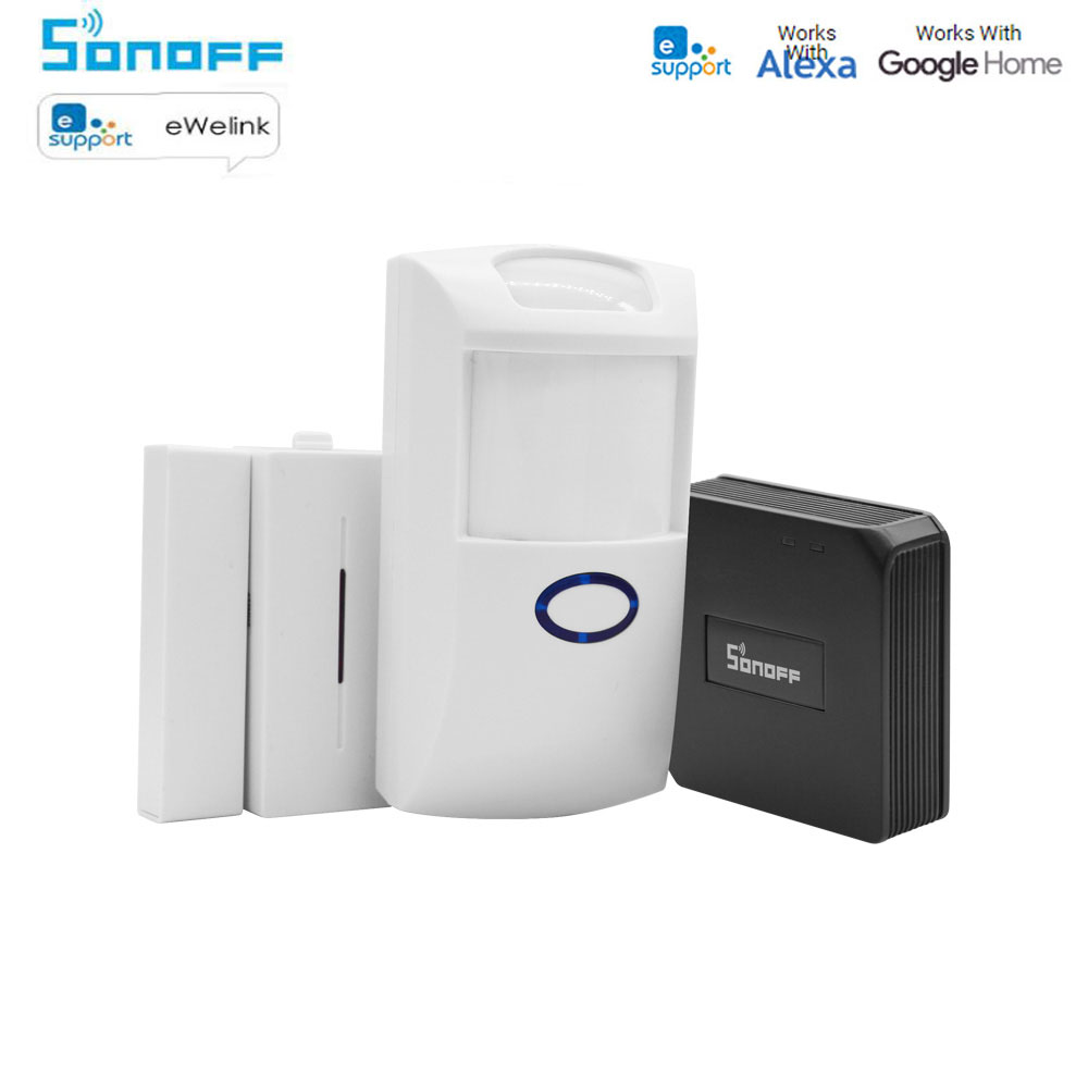 Sonoff 433MHZ RF Bridge Wifi Wireless Signal Converter PIR 2 Sensor/ DW1 Door & Window Alarm Sensor For Smart Home Security Kits