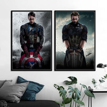 P652 Капитан Америка Первый мститель Бесконечность войны эндшпиль художественная живопись шелк Холст плакат настенный домашний декор